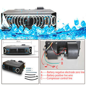 30w Underdash Ac Evaporator Dc 12v Heat Cool Air Conditioner Compressor Kit