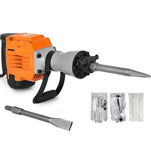 3600w Electric Demolition Jack Hammer Punch W Case Handle Heavy Duty Pro