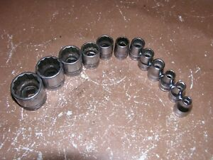 Snap On 12 Piece British Standard Socket Set Wf 94 Thru Wf 104 Free Shipping