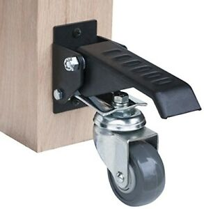 Solid Steel Workbench Caster Kit Controlled Rolling W Mounting Screw Pack Of 4