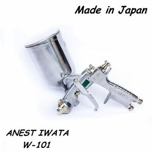 Anest Iwata Spray Gun W 101 Gravity Feed Paint Spray Gun 1 0 1 3 1 5 1 8 Hvlp