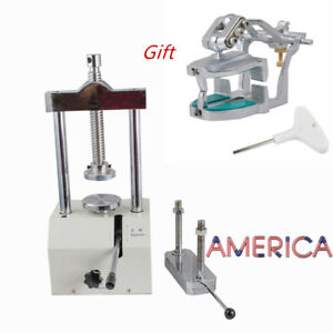 Dental Lab Hydraulic Press Flask Presser Pressure 80mm magnetic Articulator Hold
