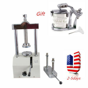 Fda Portable Dental Laboratory Hydraulic Press Flask Lab Presser Pressure 80mm