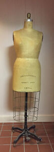 Wolf Mannequin Collapsible Female Dress Form Size 14 1 2 Vintage 1972
