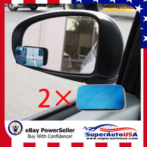 3d Blue Tint Blind Spot Mirror Wide Angle Rear View Car Side Mirror For Ford