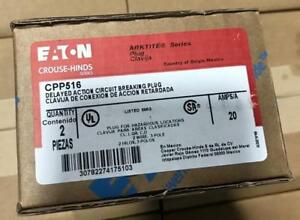 Crouse Hinds Cpp516 20amp Delayed Action Circuit Breaking Plug Arktite New Eaton