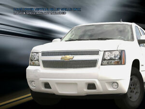Fedar Upper Billet Grille For 2007 2014 Chevy Tahoe Suburban Avalanche Polished