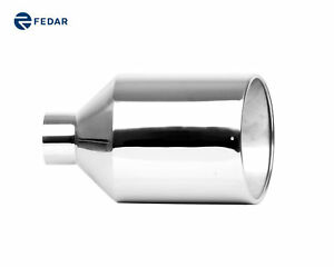 Fedar Truck Exhaust Tailpipe Tip 4 Inlet 10 Outlet 18 Rolled End Angle Cut