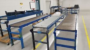 24 X 10 Gravity Roller Conveyor Sections Adjustable Stands will Not Ship