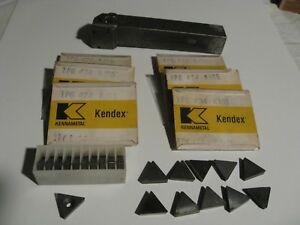 Kennametal Lathe Insert Holder And Inserts Lot