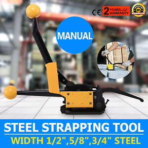A333 Manual Steel Strapping Tool No Buckle Sealless Anti skid 850n Tension