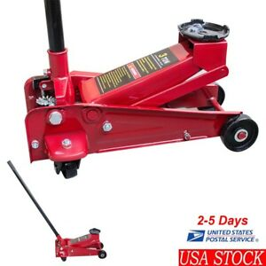 3 Ton Low Profile Aluminum Racing Floor Jack Rapid Pump Lift Car Lowrider Auto
