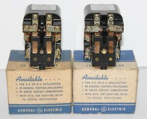 2 Vintage General Electric 10 Amp Relay Cr2790e100 A2 A3 115v 230v 60 Cy