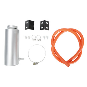 Aluminum Silver 800ml Cylinder Radiator Overflow Reservoir Coolant Tank Can
