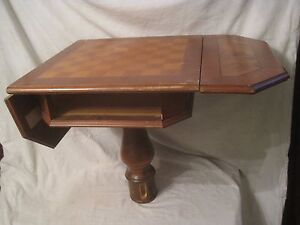 Parts Restoration Inlaid Wood Chess Checkerboard Game Table Italian Italy