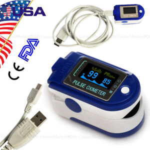 Usb 24 Hours Fingertip Pulse Oximeter Spo2 Blood Oxygen Heart Rate Meter cd usa