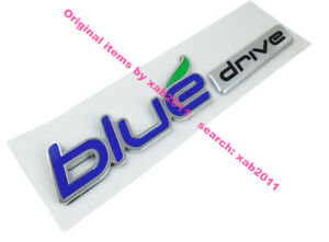 Blue Drive For Hybrid Front Side Fender Emblem Badge Sticker