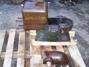 Old 3hp John Deere E Hit Miss Gas Engine Cylinder Block Cam Gear Governor Nice