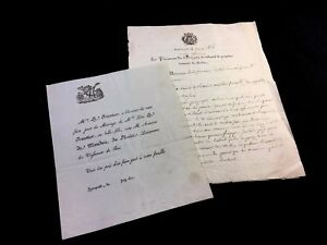 Invitation To A Wedding And Letter From The King S Prosecutor 1816