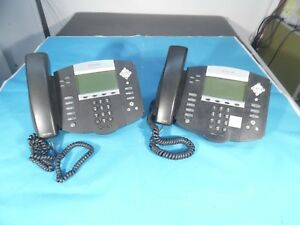 Lot Of 2 Polycom Soundpoint Ip 550 Hd Phones