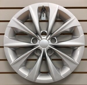 New 16 10 spoke Silver Hubcap Wheelcover Fits 2015 2016 2017 Toyota Camry