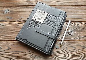 Genuine Leather Personal Organizer A5 Garden Journal Calfskin Travel Notebook