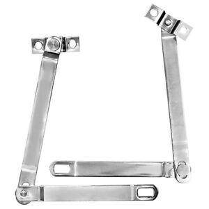 1966 77 Ford Bronco Tailgate Hinge Supports Stainless Steel Pair 2 Pcs Dynacorn