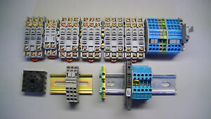5 Din Rail Relay Sockets 300v 15amps 20 Din Rail Terminal Blocks Misc Size