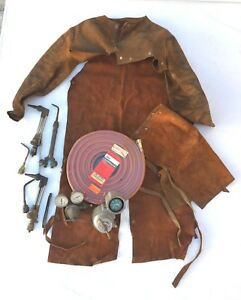 Victor Oxy Acetylene Cutting Torch Welding Torch Gauges Chaps Hoses