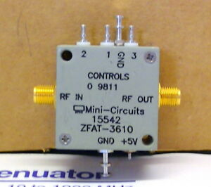 Mini circuits Zfat 3610 Digital Step Attenuator Wideband 10 1000 Mhz W data Shee