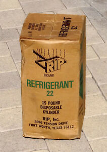 R 22 Refrigerant 15 Lbs New In Box Virgin R 22 Rip Inc Brand Sealed