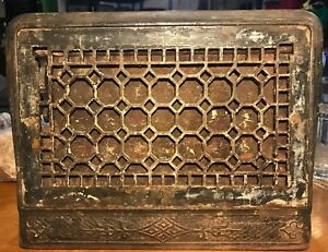Antique Cast Iron Wall Register Vintage Vent Heating Grate Wall Grate Ornate