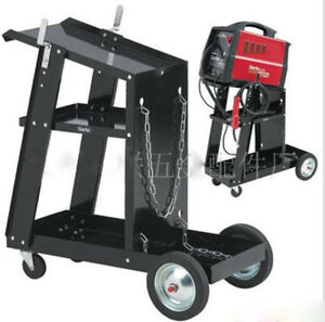 Mig Tig Arc Welder Welding Cart Plasma Cutter Universal Storage For Tanks