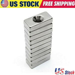 N35 Wholesale Super Strong Block Magnets 20x10x4mm Hole 4mm Rare Earth Neodymium