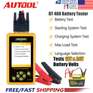 Autool Bt 460 Car Battery Tester Charging System Analyzer For 12v 24v Vehicle Us