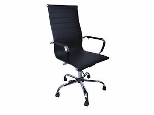 Set Of 2 Modern Pu Leather Ergonomic High Back Office Chair Executive Computer