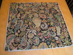 Antique19th Century Needlepoint Panel Abstract Floral 22x23