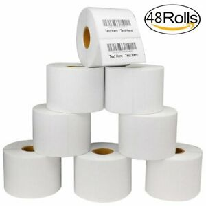 48 Rolls 2 25x1 25 Direct Thermal Shipping Labels 1000 roll Zebra Lp2824 Tlp2824