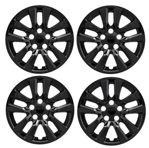 New 16 Black Hubcap Wheelcover Set Of 4 That Fits 2007 2018 Nissan Altima