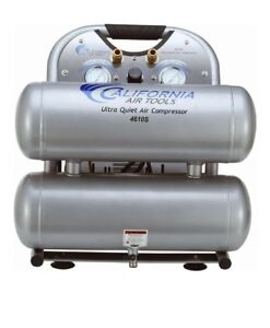 Air Compressor 4 6 Gal Ultra Quiet Oil free Steel Twin Tank Electric Portable