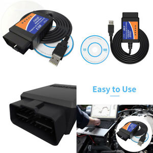 Vdiagtool Elm327 Obdii Scanner Code Reader Usb Interface V1 5 Obd2 Auto Car