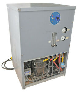 Haskris R100 208 230vac 3 84kw Water Cooled Recirculating Refrigerated Chiller