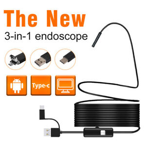 5 5 7 8mm Android type c pc 3in1 Usb Camera Hard Wire Detection Endoscope Camera