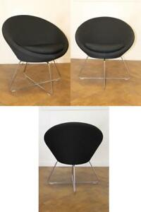Used Allermuir Conic A630 Reception lounge Chair In Black Cloth X 4