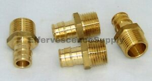 lot Of 4 1 Propex X Npt Male Adapter wirsbo Style Lead Free Brass