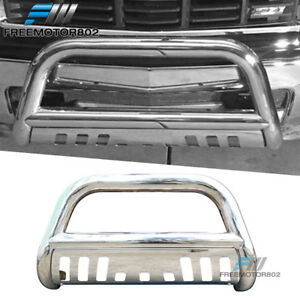 Fits 07 13 Chevy Silverado 1500 Ld Bull Bar T304 Stainless Steel Silver 3inch