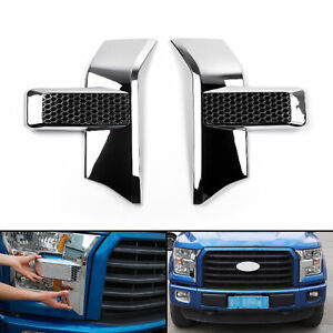 Chrome Front Bumper Headlight Grille Cover Trim For 2015 2018 Ford F150 Pickup