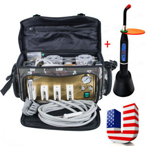 Us Dental Dentist Turbine Unit 4hole Air Compressor Suction 3w Syringe Bag gift
