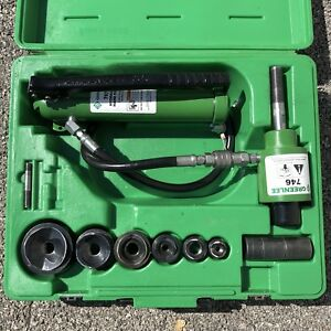 Greenlee 7306sb 1 2 2 Slugbuster Hydraulic Knockout With Punches 767 746