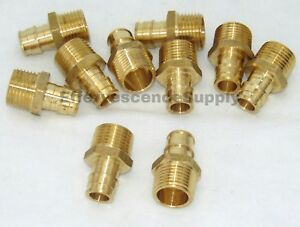 lot Of 10 1 Propex X Npt Male Adapter wirsbo Style Lead Free Brass